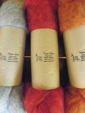 Carded wool from Vreta farm